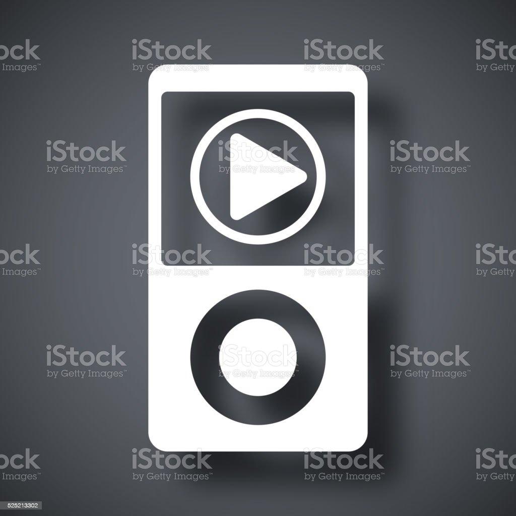 Music player icon, vector vector art illustration