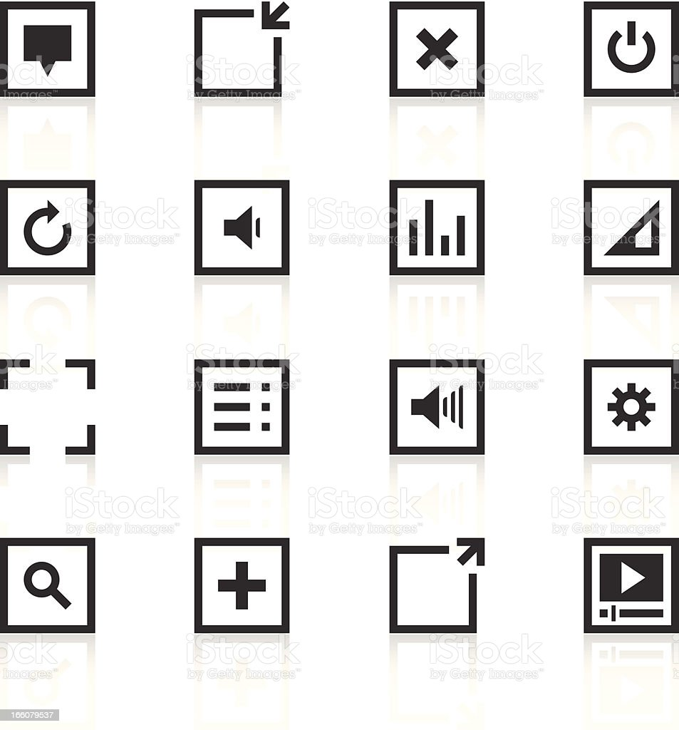 Music Player icons royalty-free stock vector art