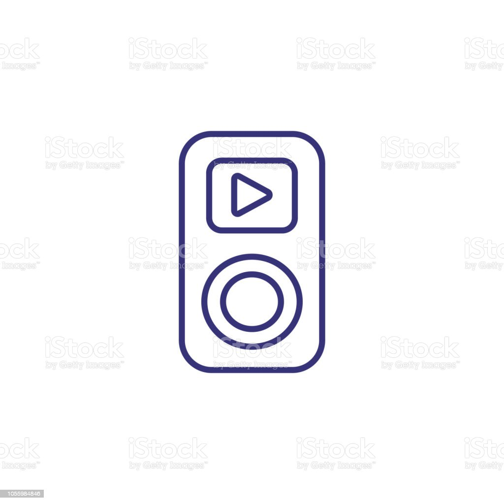 Music Player Line Icon Stock Vector Art & More Images of