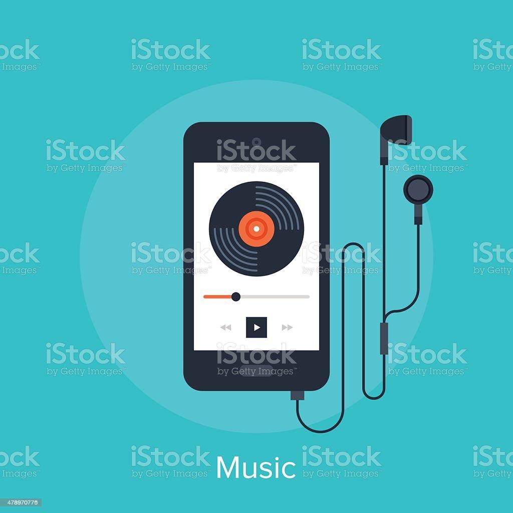 Music Player vector art illustration