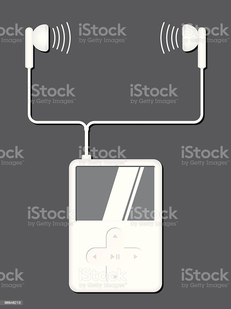 Music player with earphones royalty-free music player with earphones stock vector art & more images of art and craft