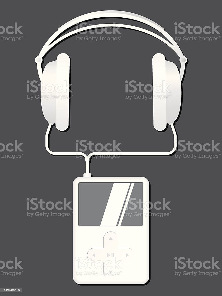 Music player with headphones royalty-free music player with headphones stock vector art & more images of art and craft