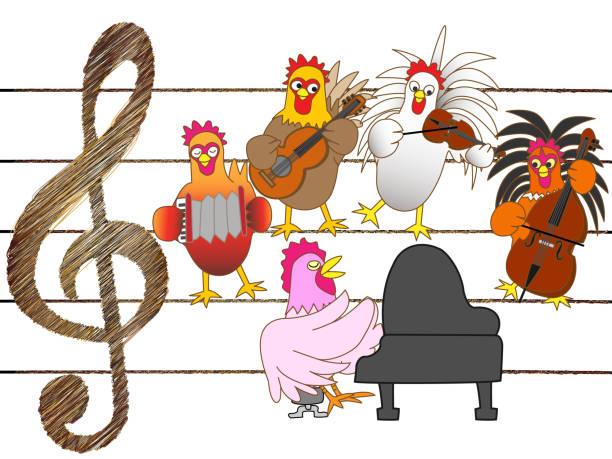 music ranch – artystyczna grafika wektorowa