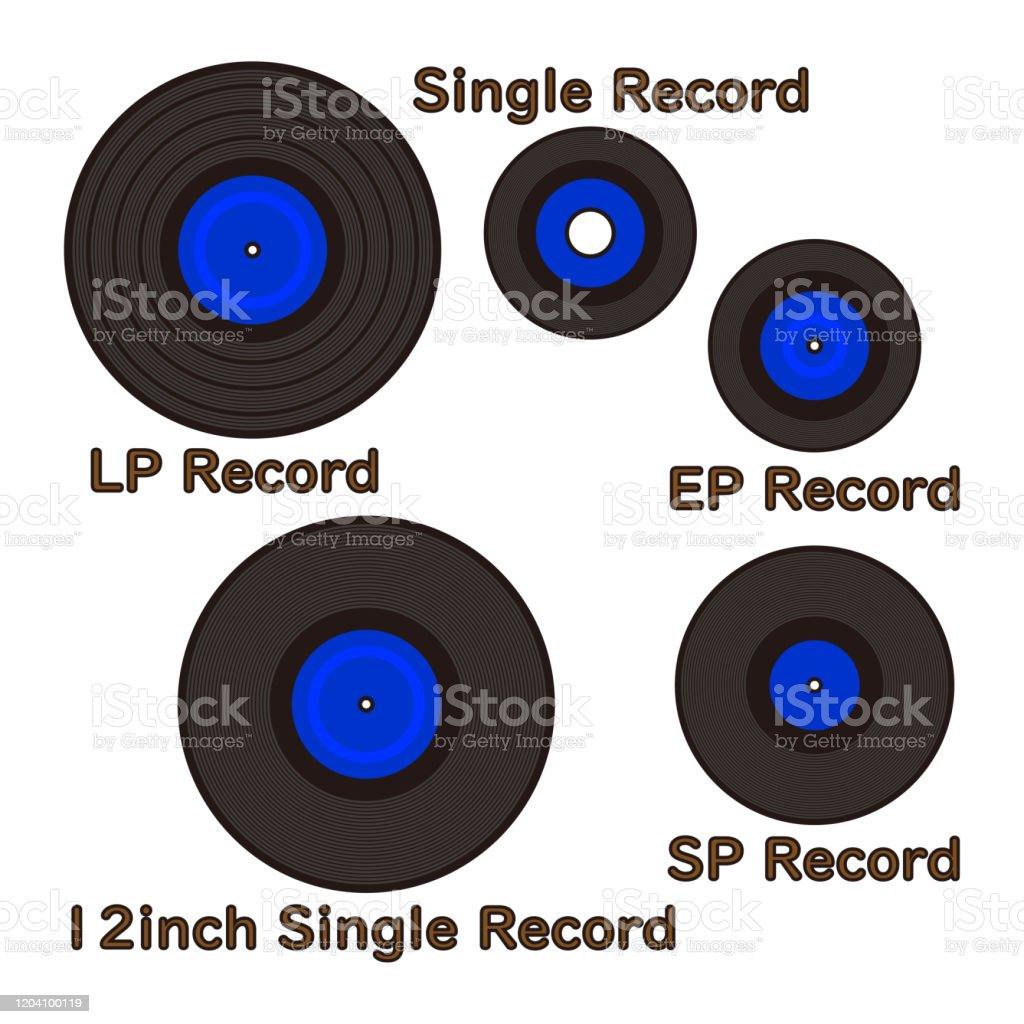 ミュージックレコードの種類 イラスト ベクター - CD-ROMのベクター ...