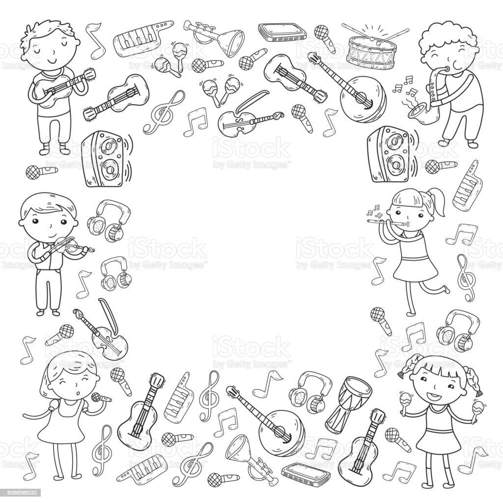 Ilustracion De Musica De La Escuela De Ilustracion Vectorial De