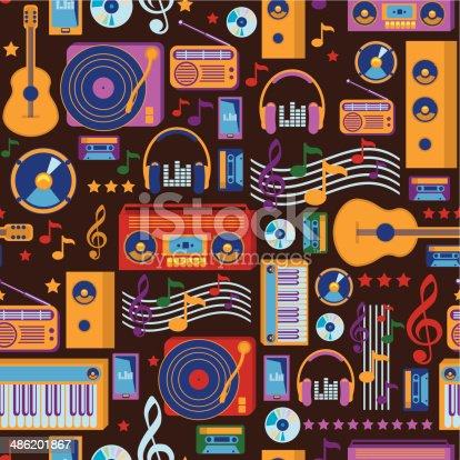istock Music seamless pattern 486201867