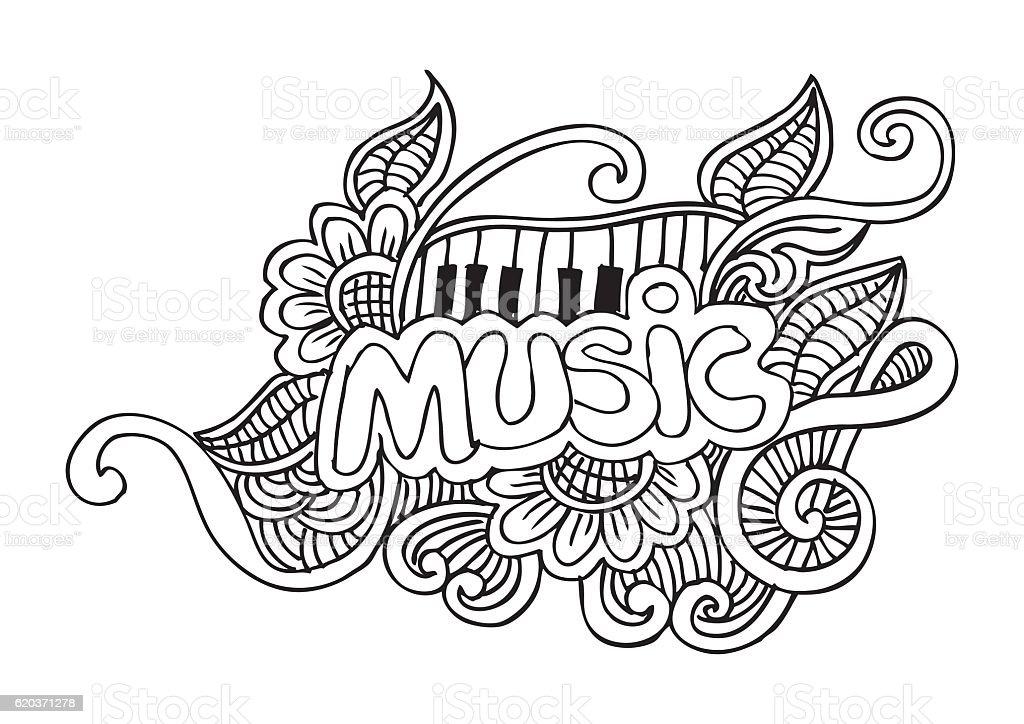 Music Sketchy Doodles. Hand-Drawn Vector Illustration music sketchy doodles handdrawn vector illustration - arte vetorial de stock e mais imagens de abstrato royalty-free