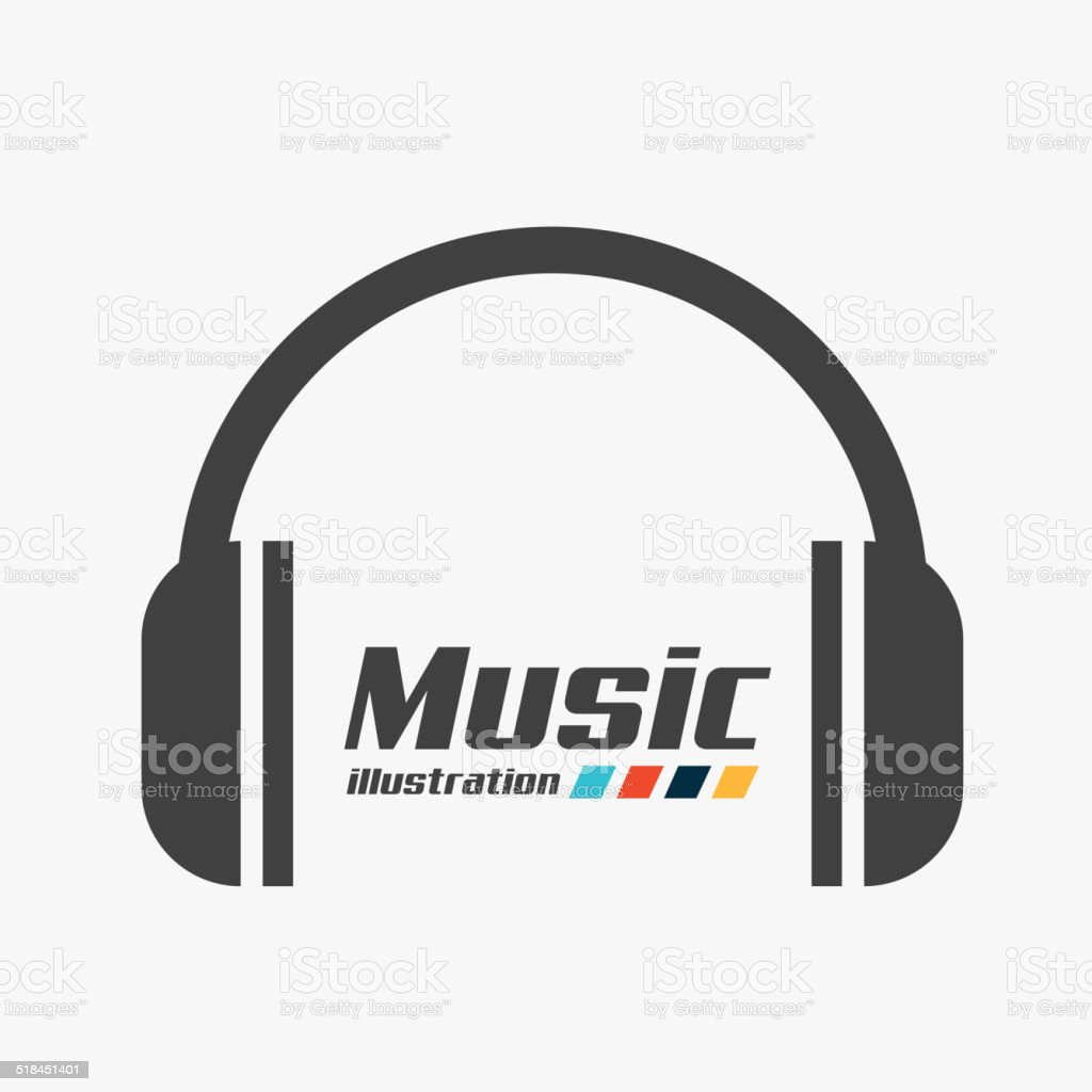 music sound design vector art illustration