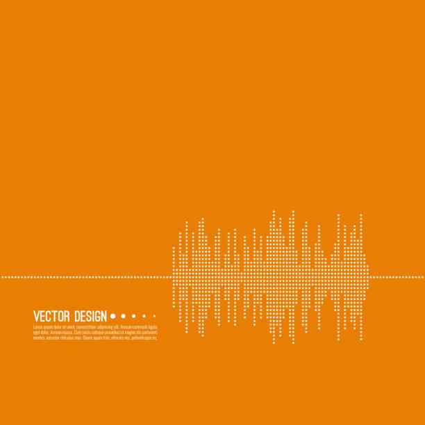 musik schallwelle. - sound wave stock-grafiken, -clipart, -cartoons und -symbole