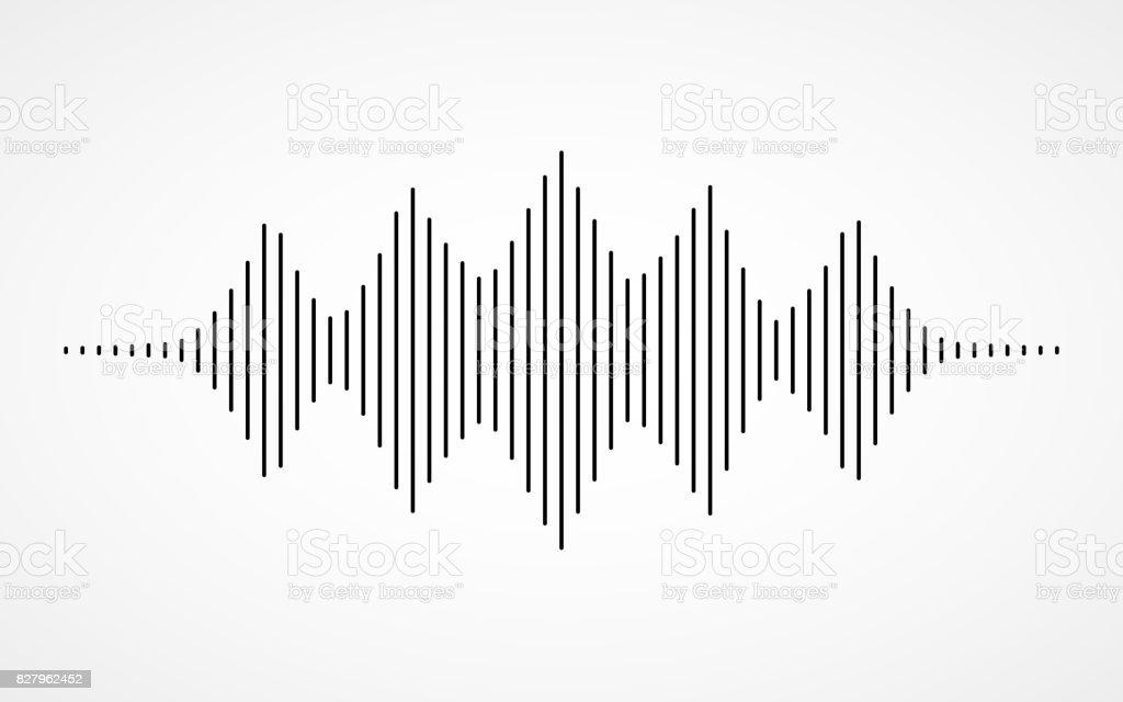 白い背景の音楽音の波 - アイコンのロイヤリティフリーベクトルアート