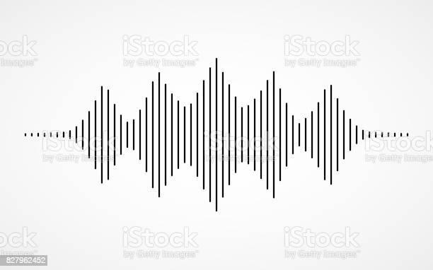 白い背景の音楽音の波 - アイコンのベクターアート素材や画像を多数ご用意