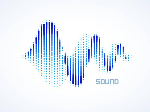 music sound waves - sound wave stock illustrations