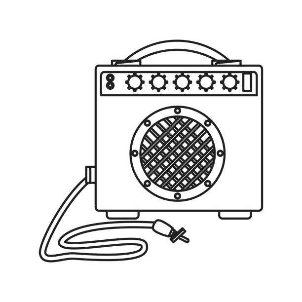 ilustrações, clipart, desenhos animados e ícones de alto-falante música isolada - ícones de festas e estações