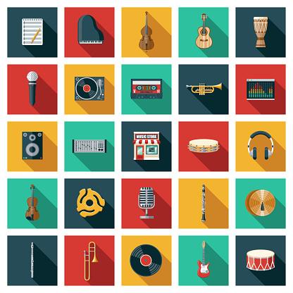 Music Store Icon Set
