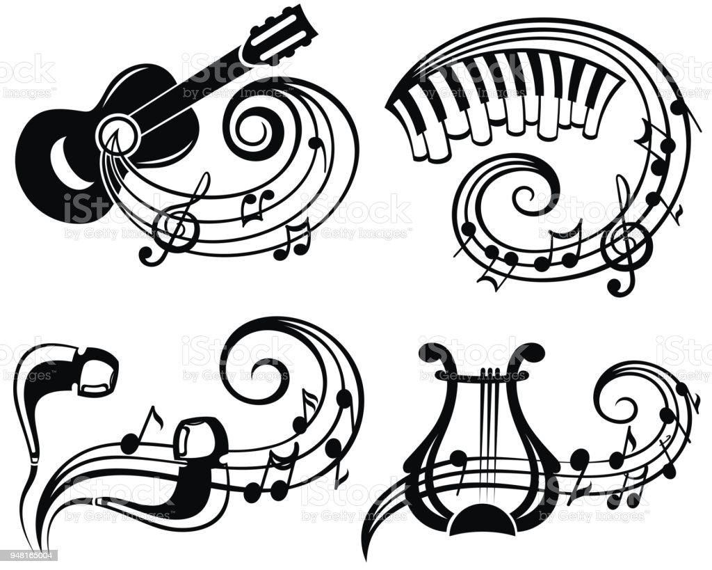 Music Symbol Vector Illustration For Your Design Stock Vector Art