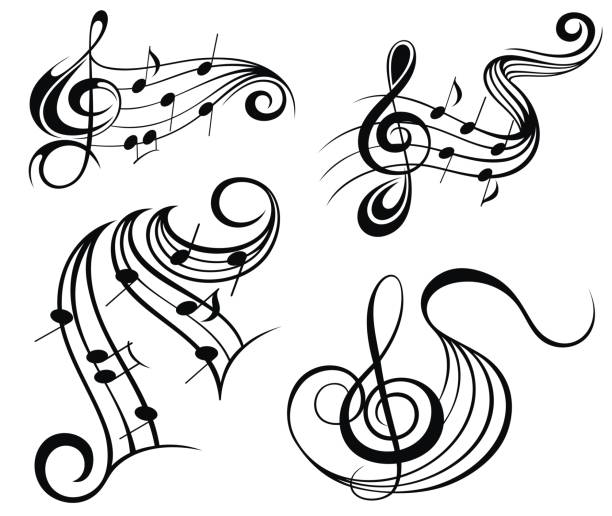35 Music Note Tattoo Drawings Illustrations Royalty Free Vector Graphics Clip Art Istock
