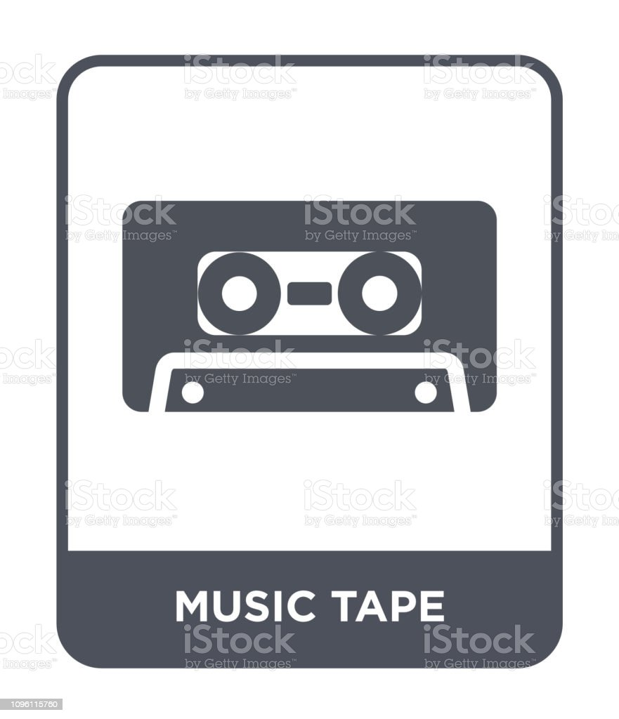 Music Tape Icon Vector On White Background Music Tape Trendy