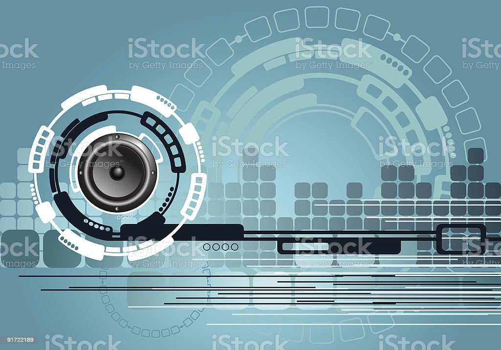 Music Technology Background royalty-free stock vector art