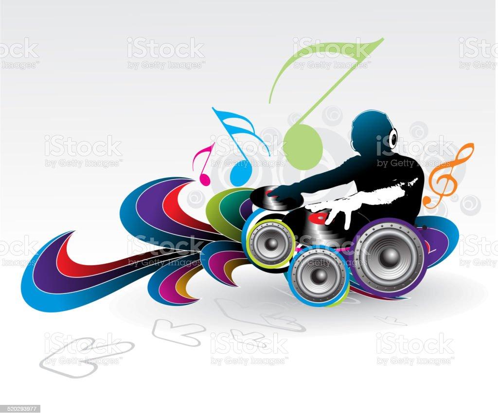 music theme vector art illustration