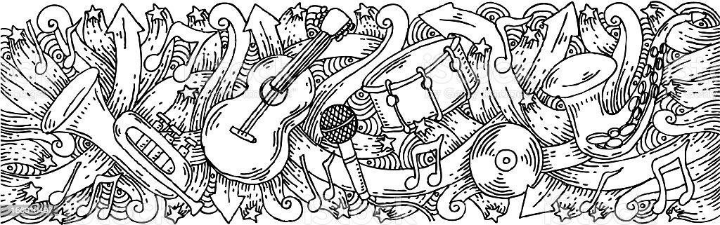 Doodle Sfondo Di Musica A Tema Immagini Vettoriali Stock E Altre