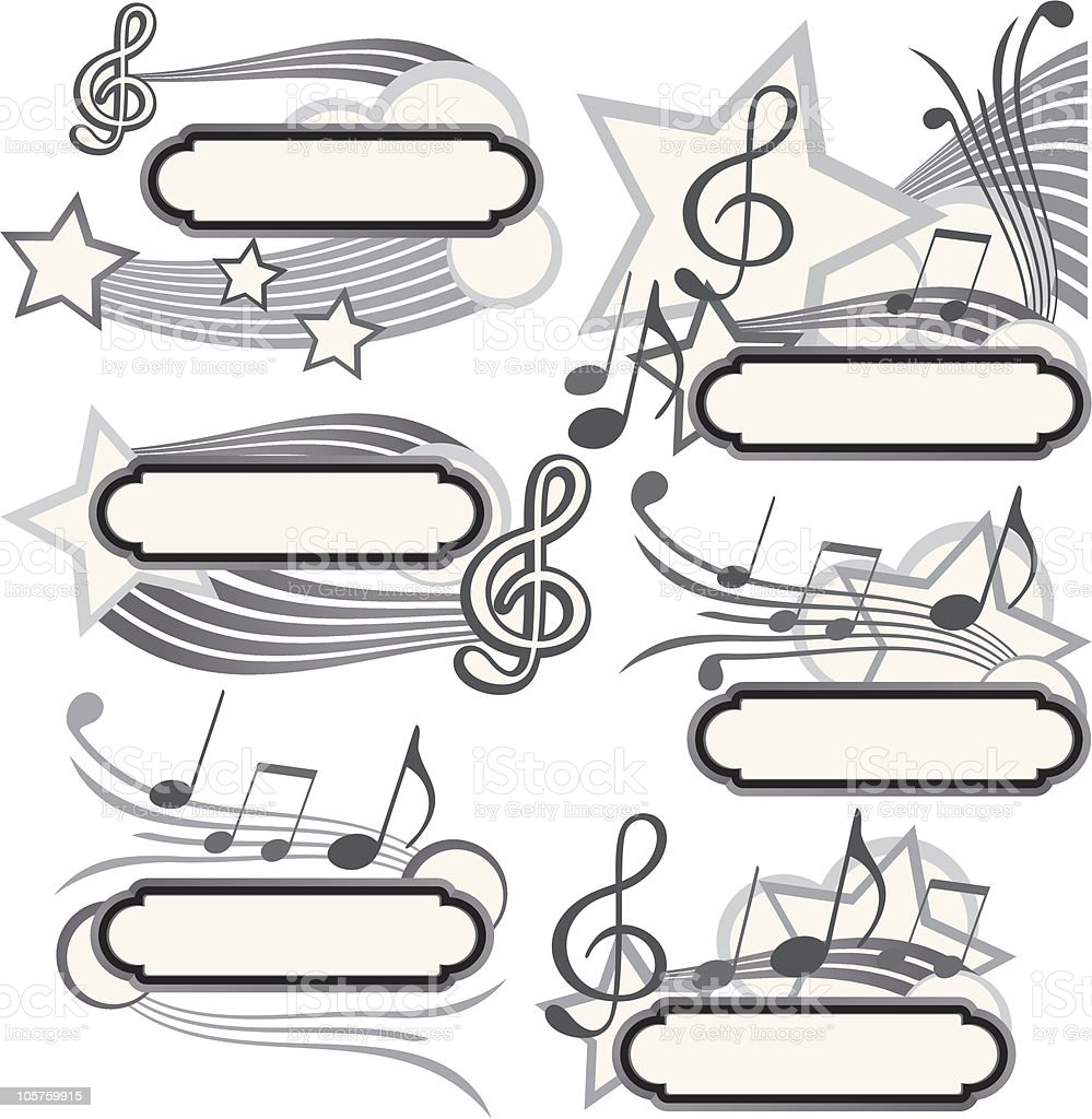 music title royalty-free stock vector art