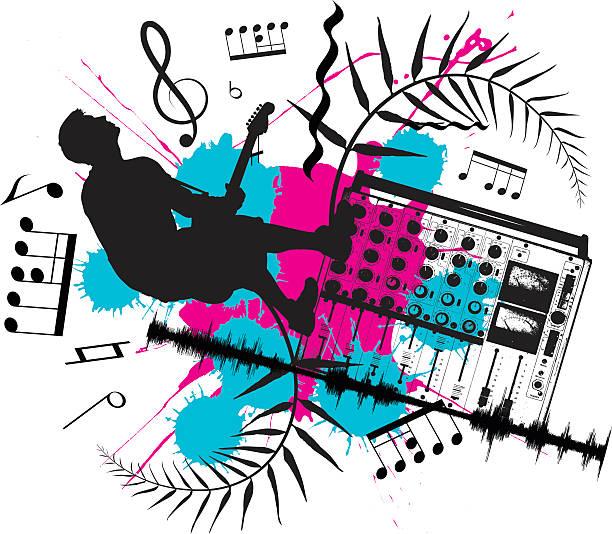 Utwory muzyczne – artystyczna grafika wektorowa