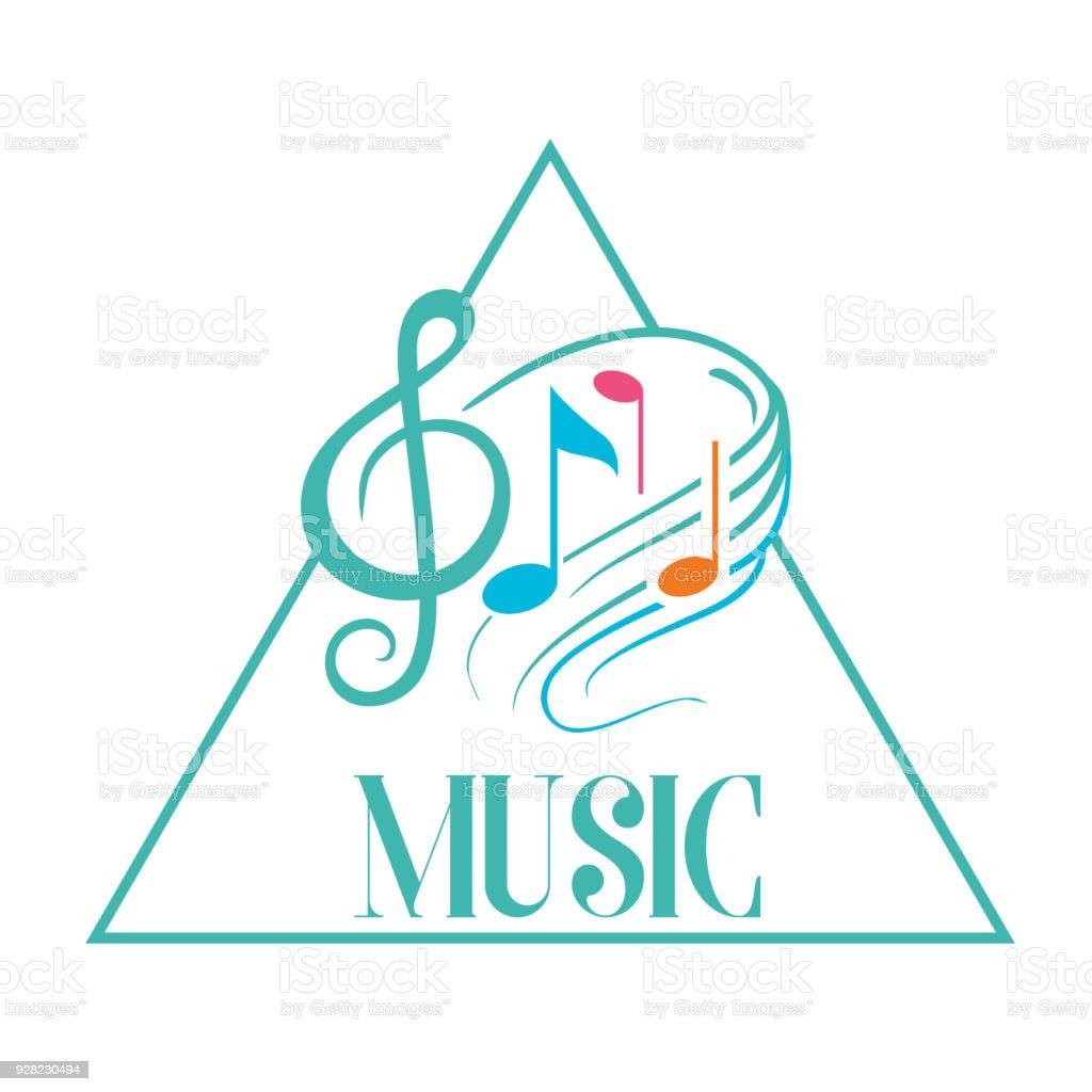Musik Dreieck Rahmen Musik Note Hintergrundbild Vektor Stock Vektor ...