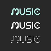 Music Typography Series Vector EPS File.