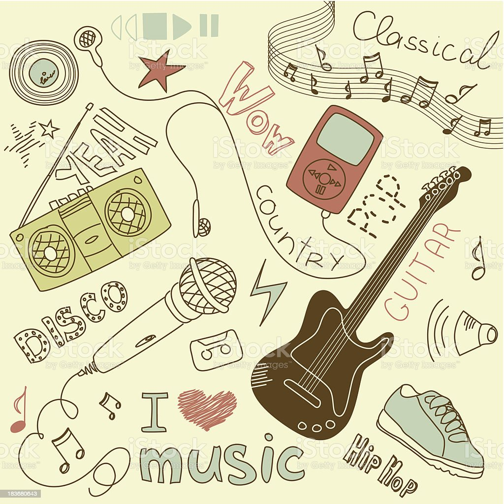 Music Vector Doodles royalty-free stock vector art