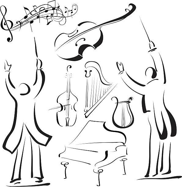 - musik - bandleader stock-grafiken, -clipart, -cartoons und -symbole