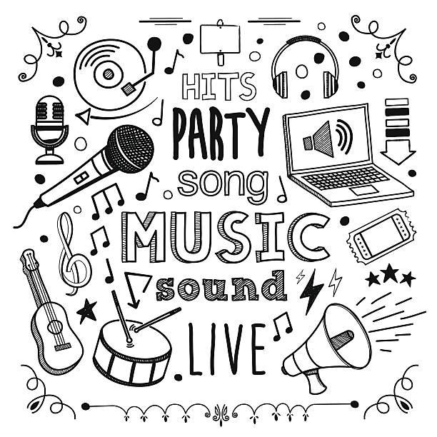 stockillustraties, clipart, cartoons en iconen met music - zingen