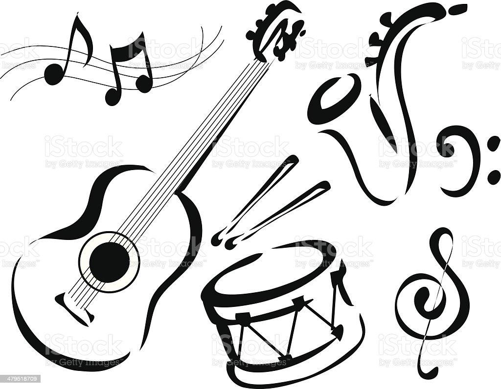 Música de - ilustração de arte em vetor
