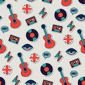 music vector seamless british pattern