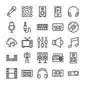Music, Video, Multimedia, Cinema Vector Icons 1