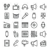Music, Video, Multimedia, Cinema Vector Icons 2