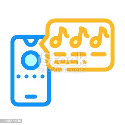 istock music waiting on ligne of call center color icon vector illustration 1299229319