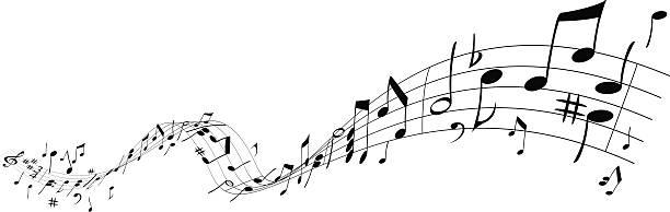 musik wave - musiksymbole stock-grafiken, -clipart, -cartoons und -symbole