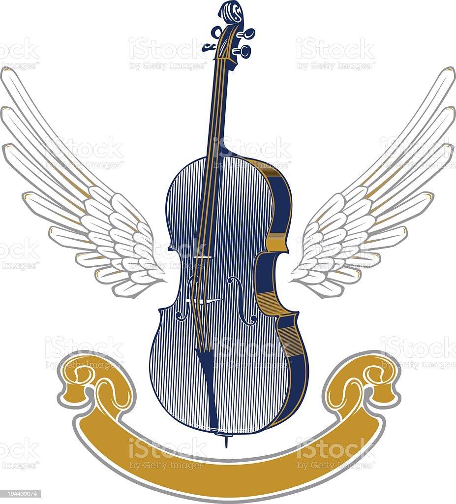 music wing emblem royalty-free stock vector art