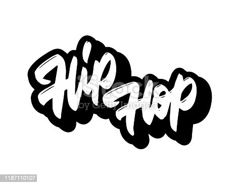 Hip hop tag graffiti style label lettering logo, vector.Typography for poster,t-shirt or stickers