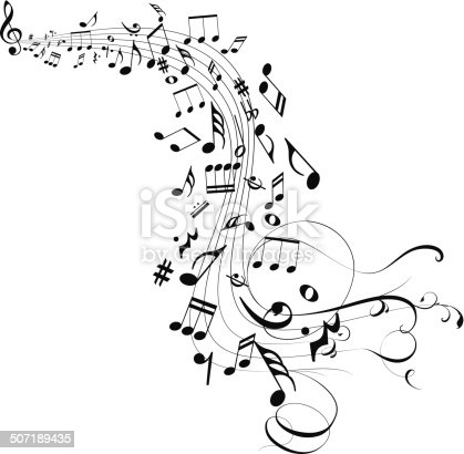 Musical abstract background for design