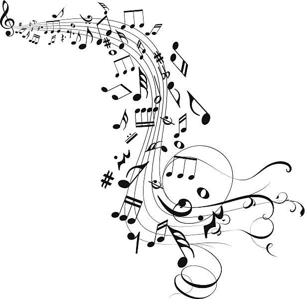 gorące tło abstrakcyjne - harmonia instrument stock illustrations