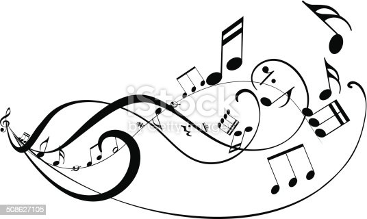 istock Musical abstract background 508627105