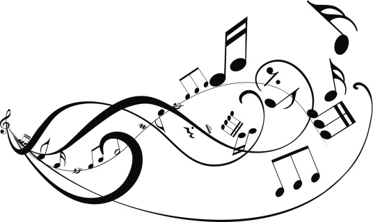 Musical abstract background
