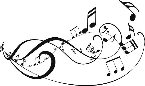 gorące tło abstrakcyjne - muzyka poważna stock illustrations