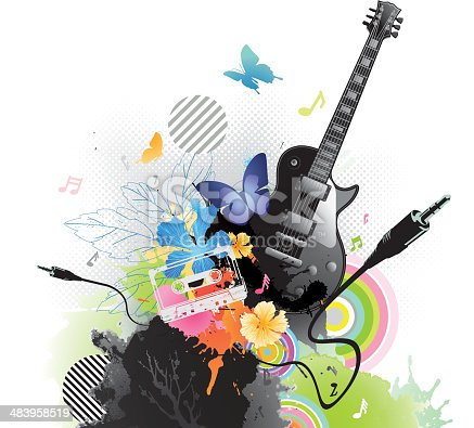 Very lively musical abstract graphic, moving object like butterfly, flower nature & multi colors further enhance this image toward more lively look & feel. AI CS3 included. File with layers.http://i654.photobucket.com/albums/uu266/lonelong/grungegraffiti.jpg