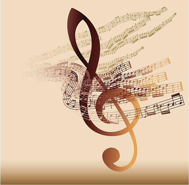 muzyczny skrót - muzyka poważna stock illustrations