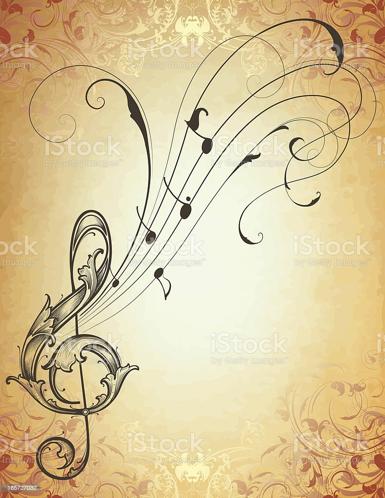 Musical Antique Scroll Stock Vector Art & More Images of 2000-2009 ...