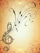 Musical Antique Scroll