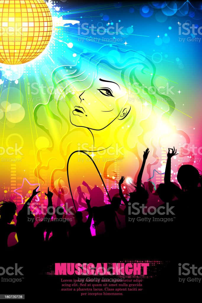 Musical Background royalty-free stock vector art