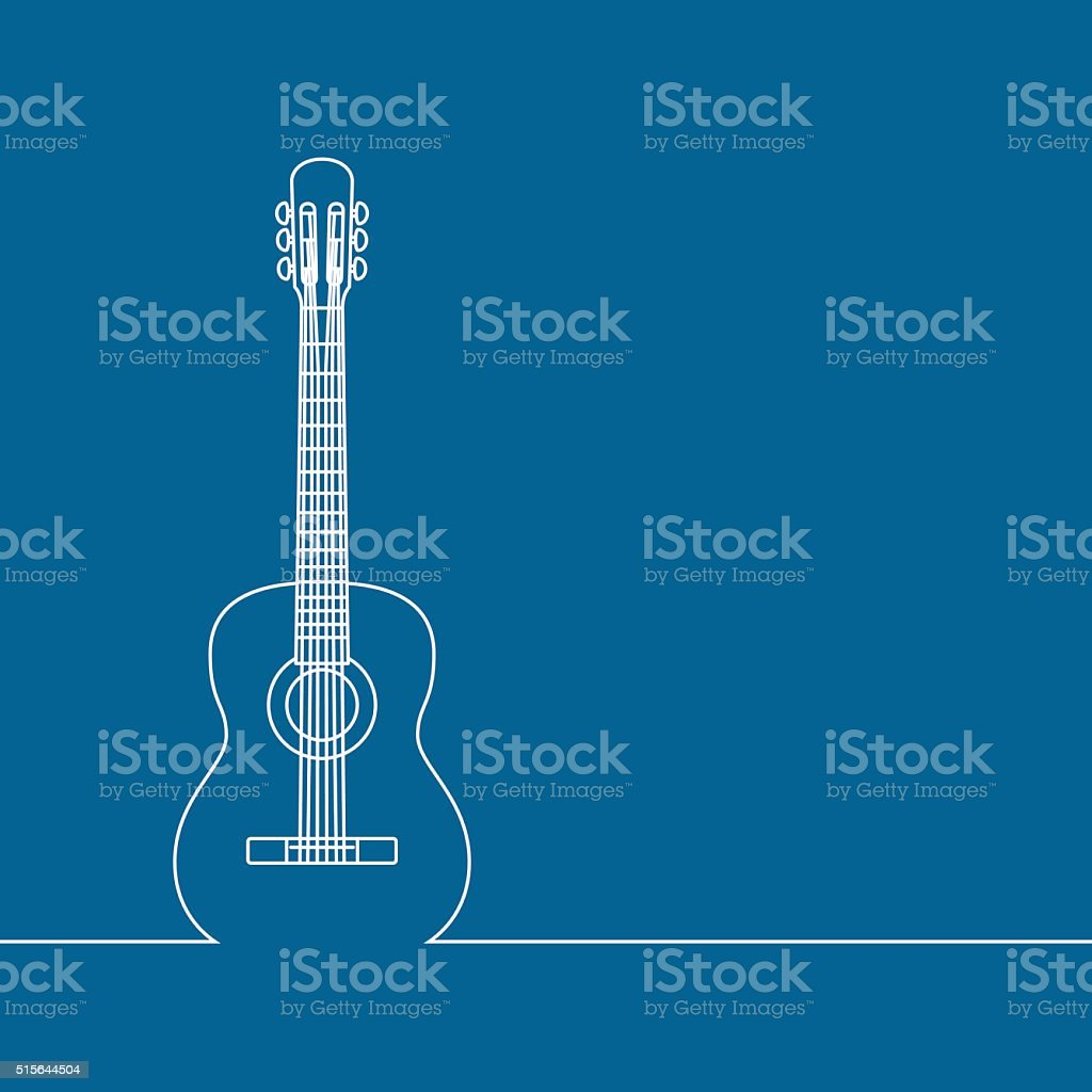Musical background vector art illustration